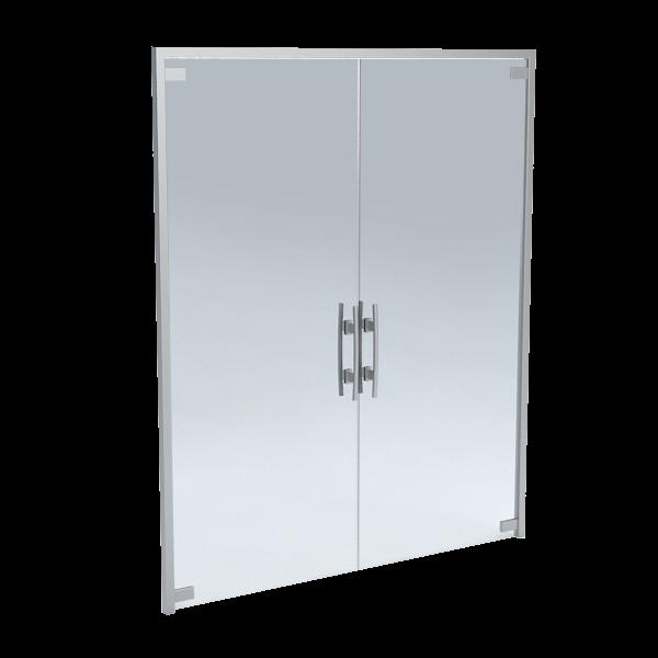 Staklena vrata bez okvira